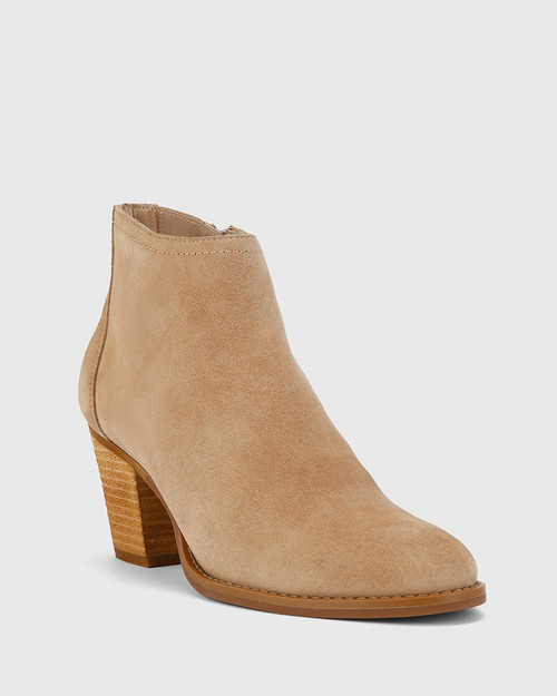 Kylar Camel Suede Leather Ankle Boot