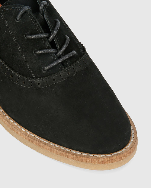 Jacquin Black Nubuck Leather Lace Up Brogue. & Wittner & Wittner Shoes