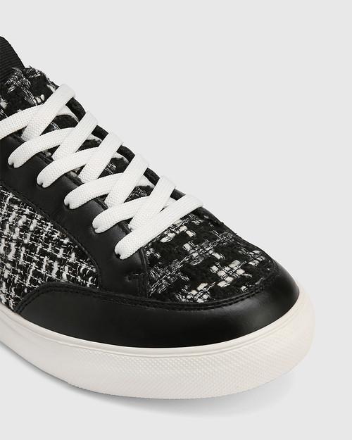 Onika Black Tweed Boucle Sneaker