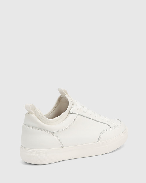 Onika White Leather Sneaker
