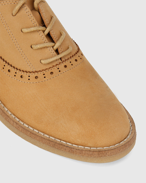 Jacquin Caramel Nubuck Leather Lace Up Brogue. & Wittner & Wittner Shoes