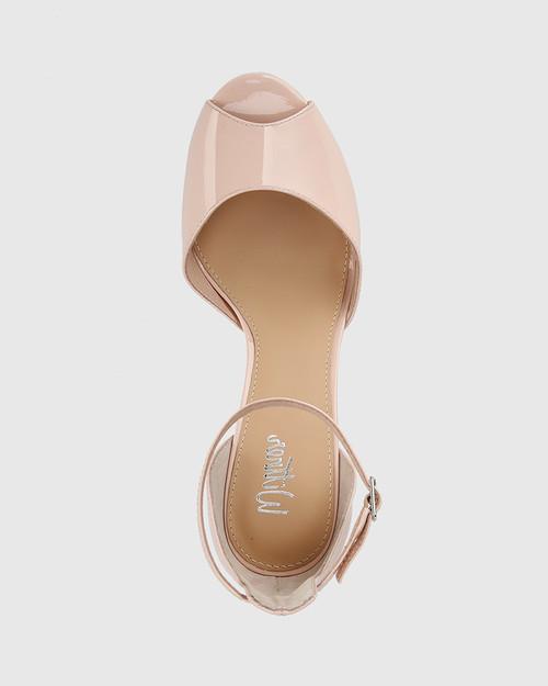 Inka Powder Pink Patent Leather Stiletto Heel Sandal. & Wittner & Wittner Shoes