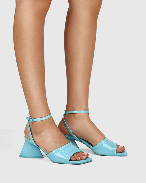 Krauss Lagoona Patent Leather Angular Heel Sandal
