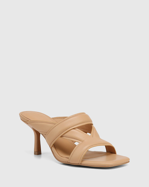Casanova Sand Leather Stiletto Heel Sandal