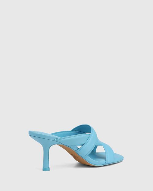 Casanova Lagoona Blue Leather Stiletto Heel Sandal