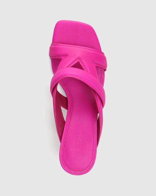 Casanova Siren Pink Leather Stiletto Heel Sandal
