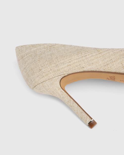 Quendra Natural Textiles Pointed Toe Pump