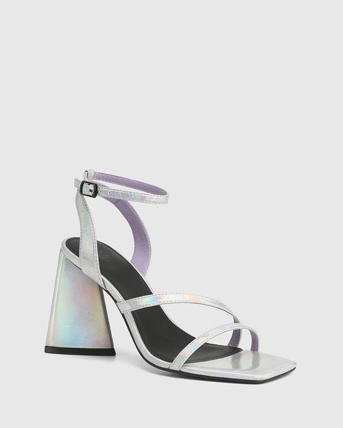 Raychie Crystal Cove Metallic Angular Heel Sandal