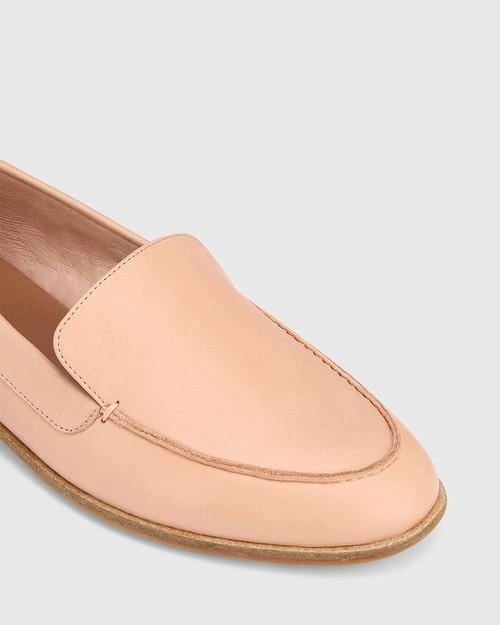Havarra Salmone Leather Almond Toe Loafer