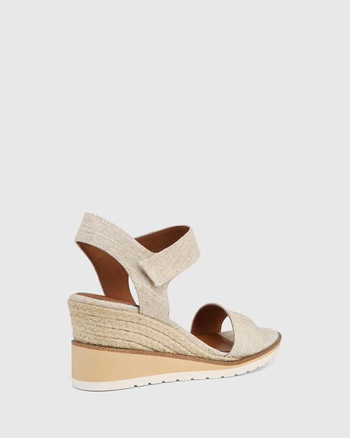Glisten Natural Textile Espadrille Wedge Sandal