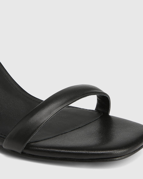 Carelinah Black Leather Block Heel Sandal & Wittner & Wittner Shoes