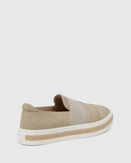 Billi Sand Canvas Loafer & Wittner & Wittner Shoes