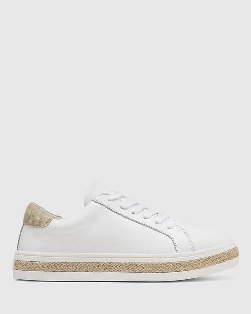 Benni White Leather Sneaker & Wittner & Wittner Shoes