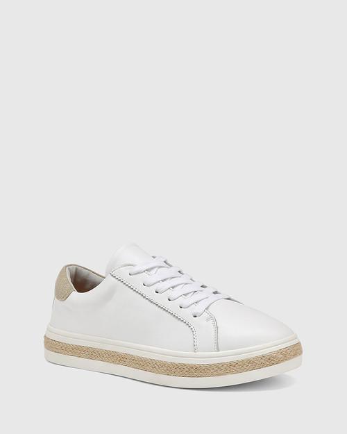 Benni White Leather Sneaker
