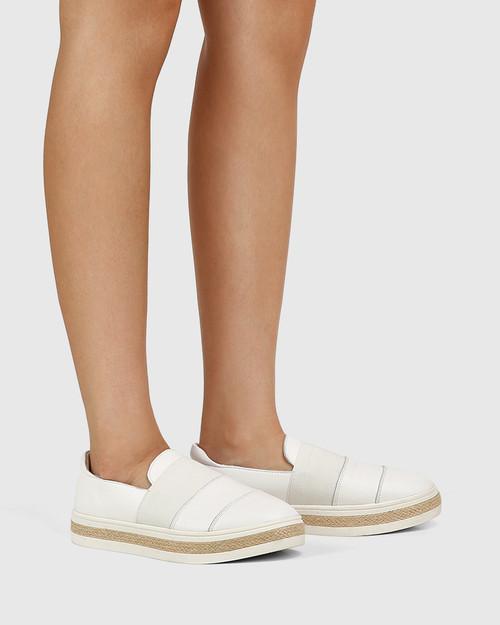 Billi White Leather Loafer & Wittner & Wittner Shoes