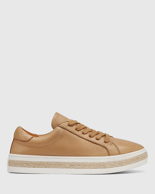 Benni Camel Leather Sneaker & Wittner & Wittner Shoes