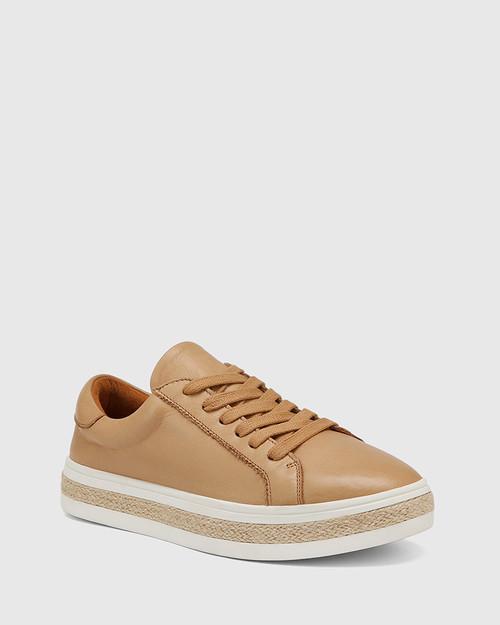 Benni Camel Leather Sneaker