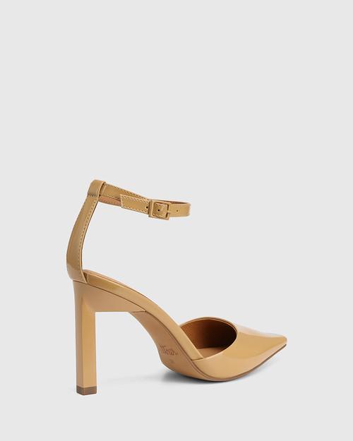 Hochi Camel Patent Leather Stiletto Heel Pump & Wittner & Wittner Shoes