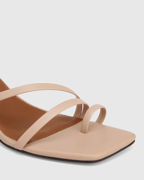 Kaiya New Flesh Leather Strappy Sculptured Heel Sandal & Wittner & Wittner Shoes