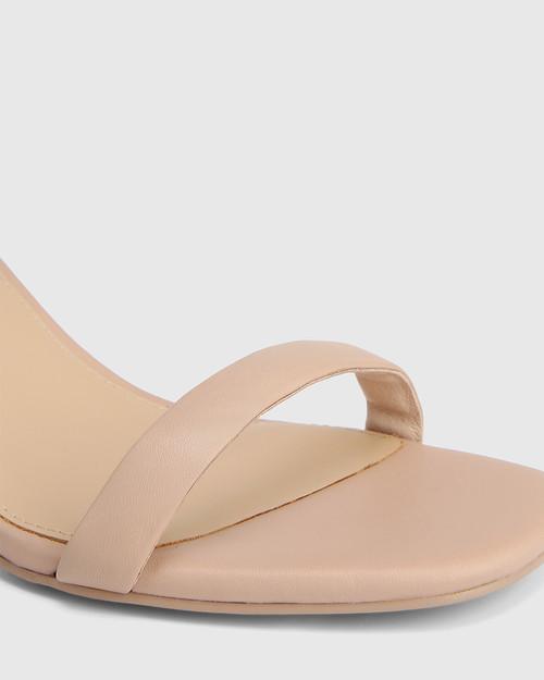 Carelinah New Flesh Leather Block Heel Sandal & Wittner & Wittner Shoes