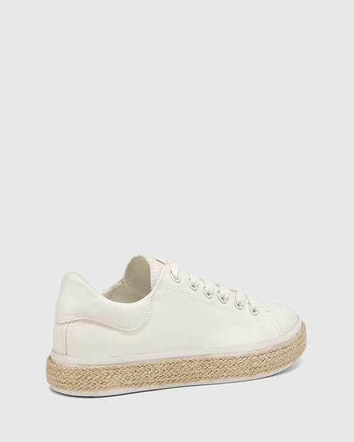Ohara White Canvas Lace Up Espadrille Sneaker & Wittner & Wittner Shoes