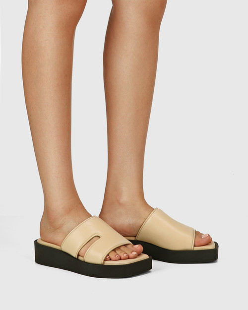 Aries Beige Leather Slide & Wittner & Wittner Shoes