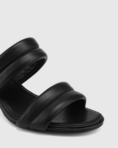 Million Black Leather Triangular Heel Sandal & Wittner & Wittner Shoes