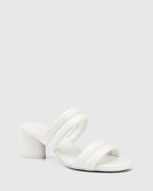 Million White Leather Triangular Heel Sandal & Wittner & Wittner Shoes
