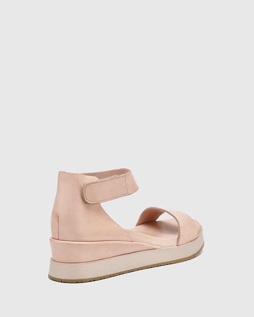 Zaylia Nude Leather Ankle Strap Wedge & Wittner & Wittner Shoes