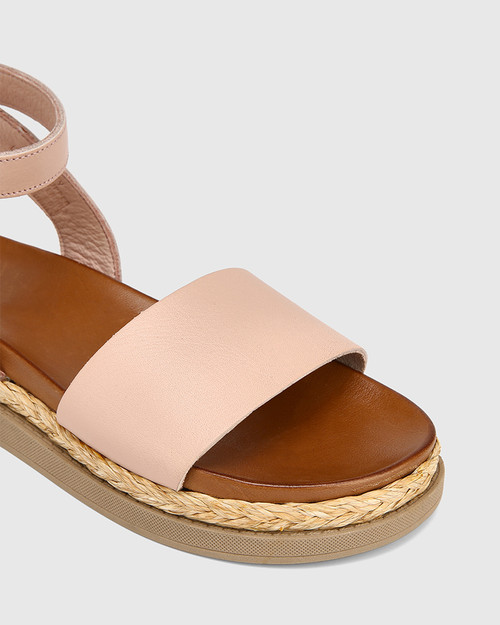 Zoeey Blush Leather Ankle Strap Sandal & Wittner & Wittner Shoes