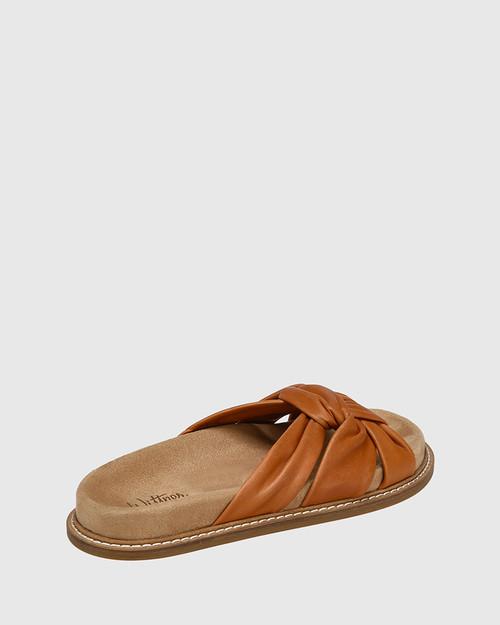 Zella Coconut Knotted Leather Slide & Wittner & Wittner Shoes