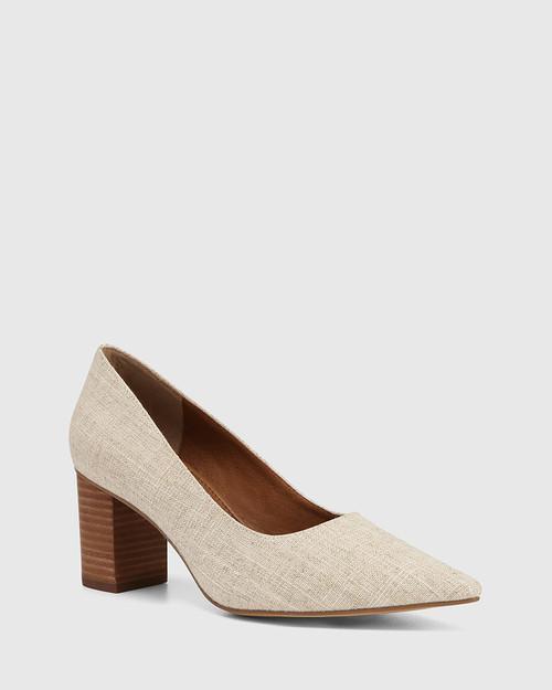 Penrose Natural Textiles Block Heel Pump & Wittner & Wittner Shoes