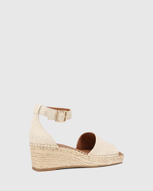 Krysta Natural Linen Espadrille Wedge Sandal & Wittner & Wittner Shoes