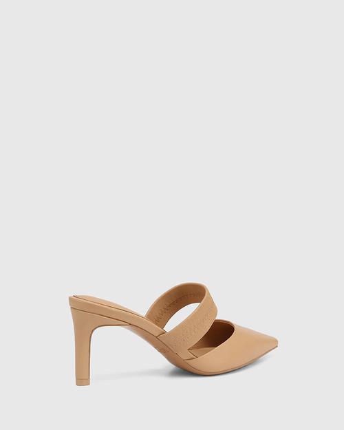 Pettie Sand Leather Stiletto Heel Mule & Wittner & Wittner Shoes