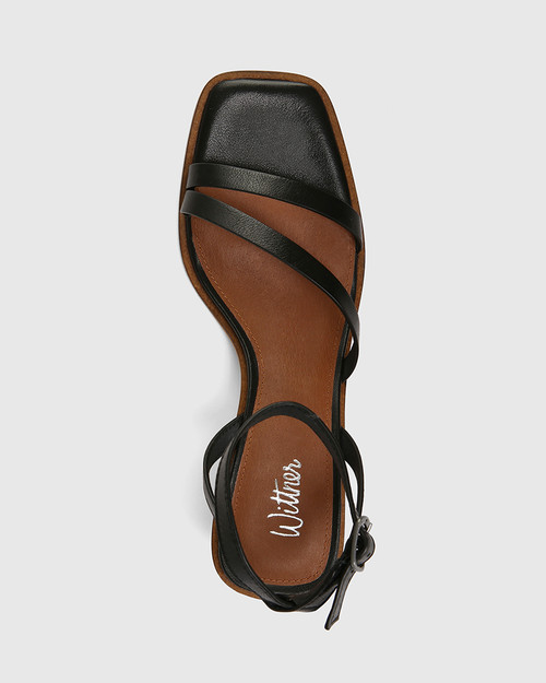 Jansen Black Leather Strappy Sandal & Wittner & Wittner Shoes