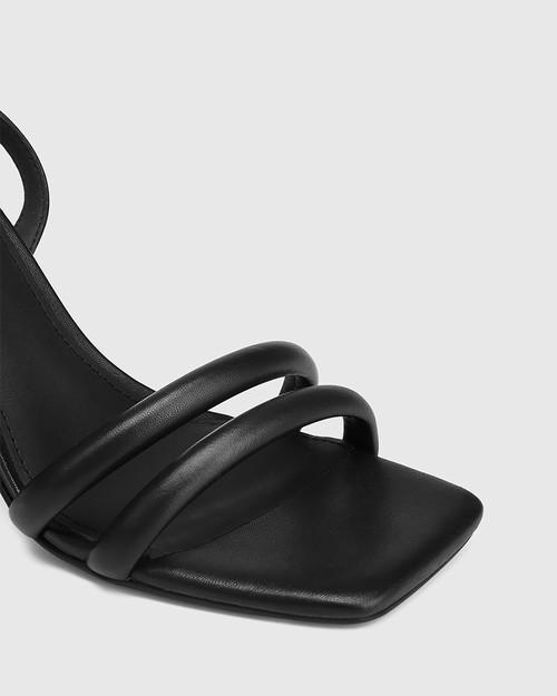 Rema Black Leather Block Heel Sandal & Wittner & Wittner Shoes