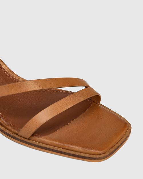 Jansen Golden Tan Leather Strappy Sandal & Wittner & Wittner Shoes