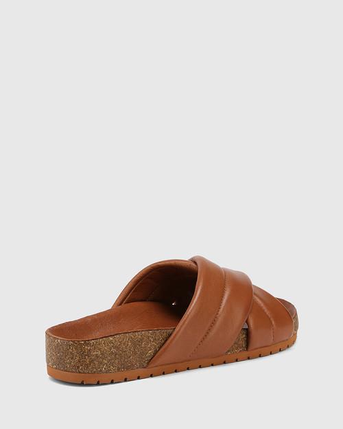 Amirah Tan Leather Cork Slide & Wittner & Wittner Shoes
