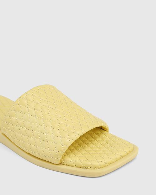 Arkk Yellow Quilted Leather Slide & Wittner & Wittner Shoes