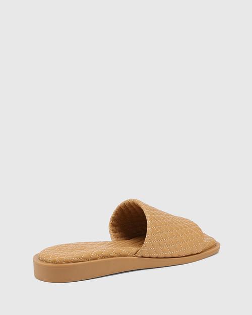 Arkk Camel Quilted Leather Slide & Wittner & Wittner Shoes