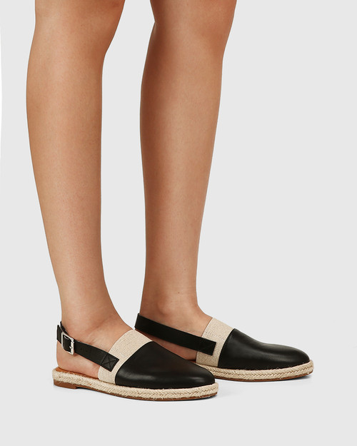 Cosmos Black Leather Slingback & Wittner & Wittner Shoes