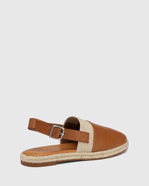 Cosmos Dark Cognac Leather Slingback & Wittner & Wittner Shoes