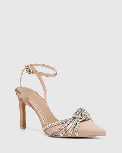 Hendon New Flesh Recycled Satin Stiletto Heel