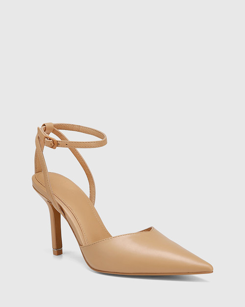 Quintella Sand Leather Stiletto Heel
