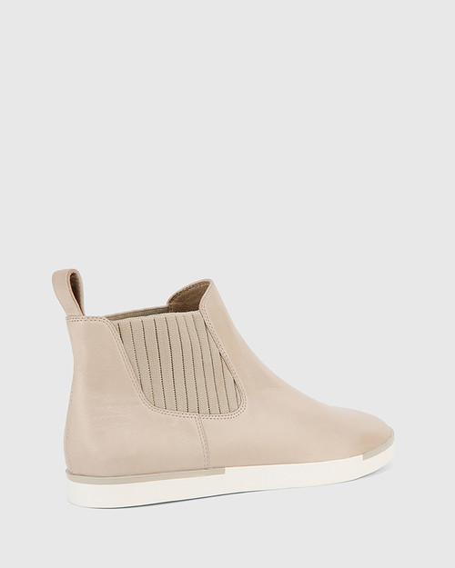 Adonia Grey Leather Gusset Ankle Boot.