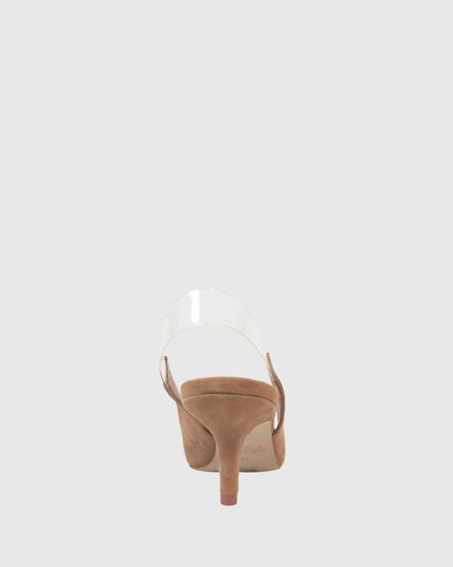 Neya Taupe Suede Slingback Kitten Heel. & Wittner & Wittner Shoes