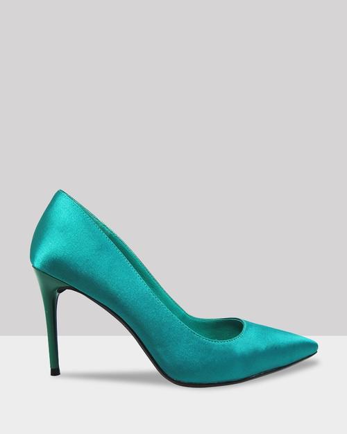 Haldwin Jade Satin Pointed Toe Stiletto Heel. & Wittner & Wittner Shoes