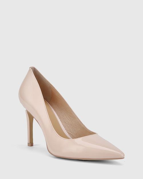 Hadalie Pink Patent Leather Stiletto Heel