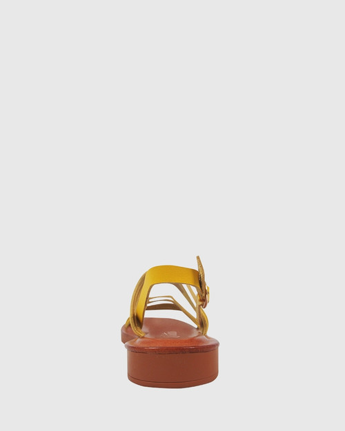 Evelyn Canary Yellow Leather Sandal. & Wittner & Wittner Shoes