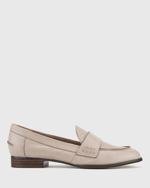 Dennis Silver Grey Leather Loafer. & Wittner & Wittner Shoes